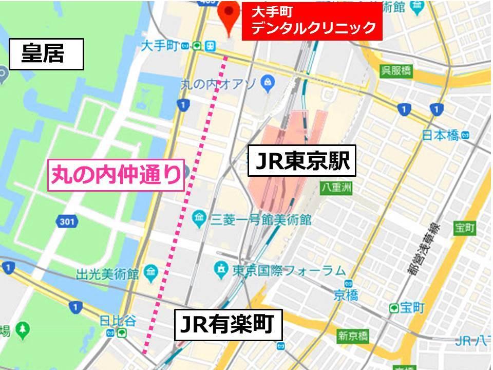 千代田区の丸の内仲通りの地図
