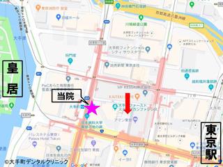 東京大手町近辺の地図