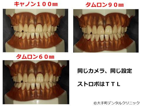 マクロレンズ3種類の画像の比較