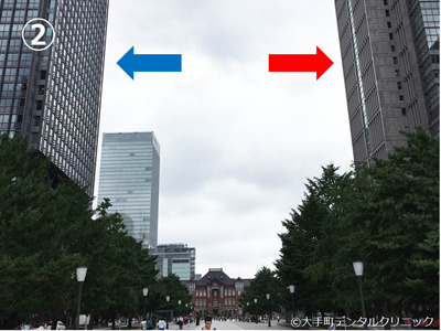 丸ビルと新丸ビルのツーショット